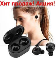 Беспроводные вакуумные Bluetooth наушники Air Twins A6 TWS гарнитура с боксом для зарядки