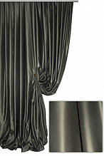 Портьерная ткань сатен сапфир, цвет графитовый