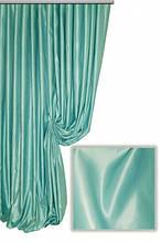 Портьерная ткань сатен сапфир, цвет бирюзовый