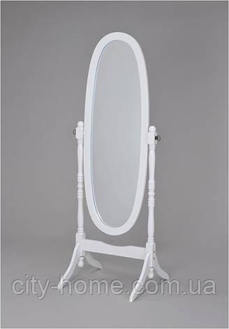 Зеркало вращающееся (дерево белое) W-58, фото 2