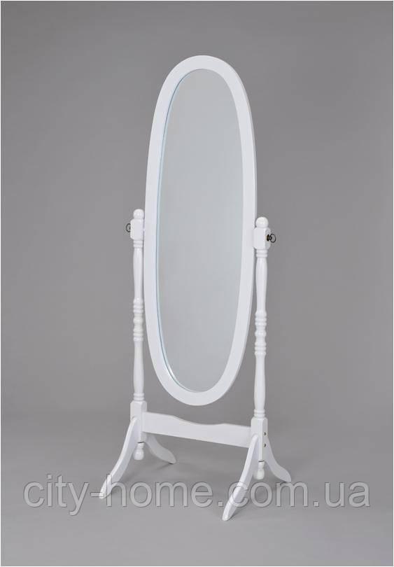 Зеркало вращающееся (дерево белое) W-58