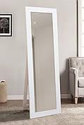 Підлогове дзеркало в білому кольорі 1900х600 мм
