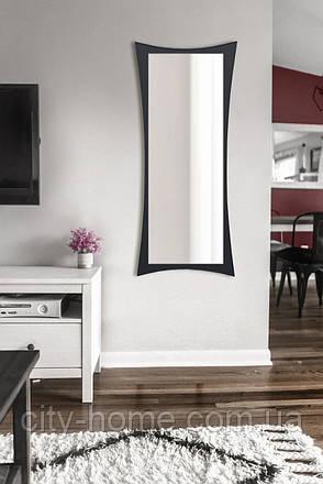 Зеркало настенное, черное 1300х550 мм, фото 2
