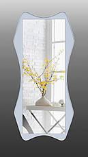 Дзеркало на стіну ростовое, біле 1300х600 мм, фото 2