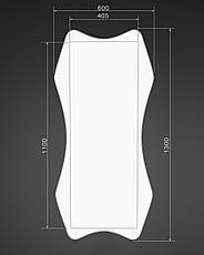 Дзеркало на стіну ростовое, біле 1300х600 мм, фото 3