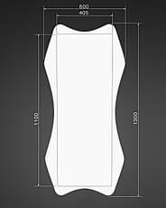 Зеркало на стену ростовое, белое 1300х600 мм, фото 3