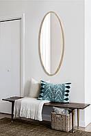 Зеркало большое овальное дуб сонома 1300х600 мм