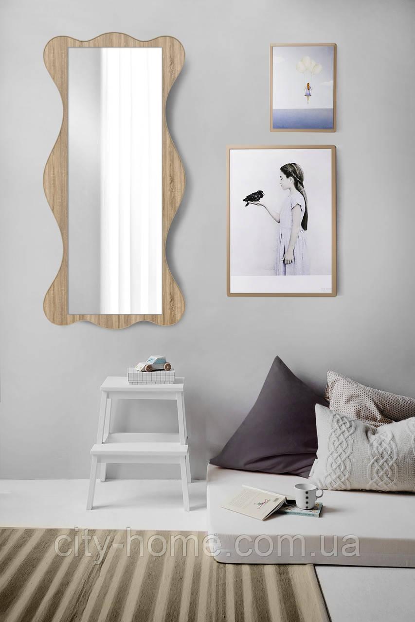Большое зеркало дуб сонома 1300х600 мм