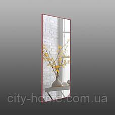 Дзеркало в повний зріст в алюмінієвій рамі, червоне, фото 2