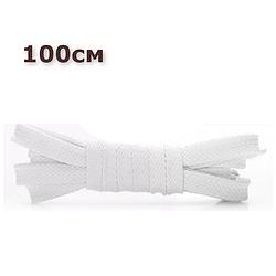 Шнурки для взуття плоскі KIWI 100 см білі