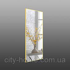 Зеркало в полный рост желтого цвета, алюминий, фото 2