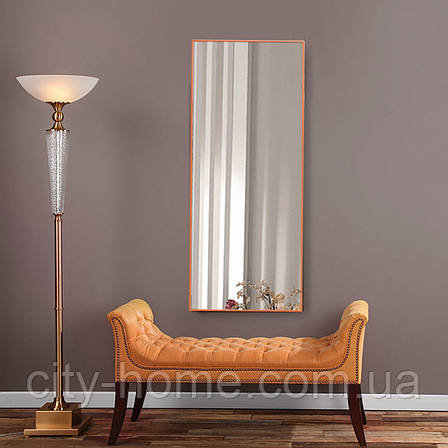 Зеркало в тонкой раме оранжевого цвета, фото 2