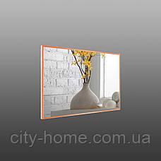 Зеркало в тонкой раме оранжевого цвета, фото 3