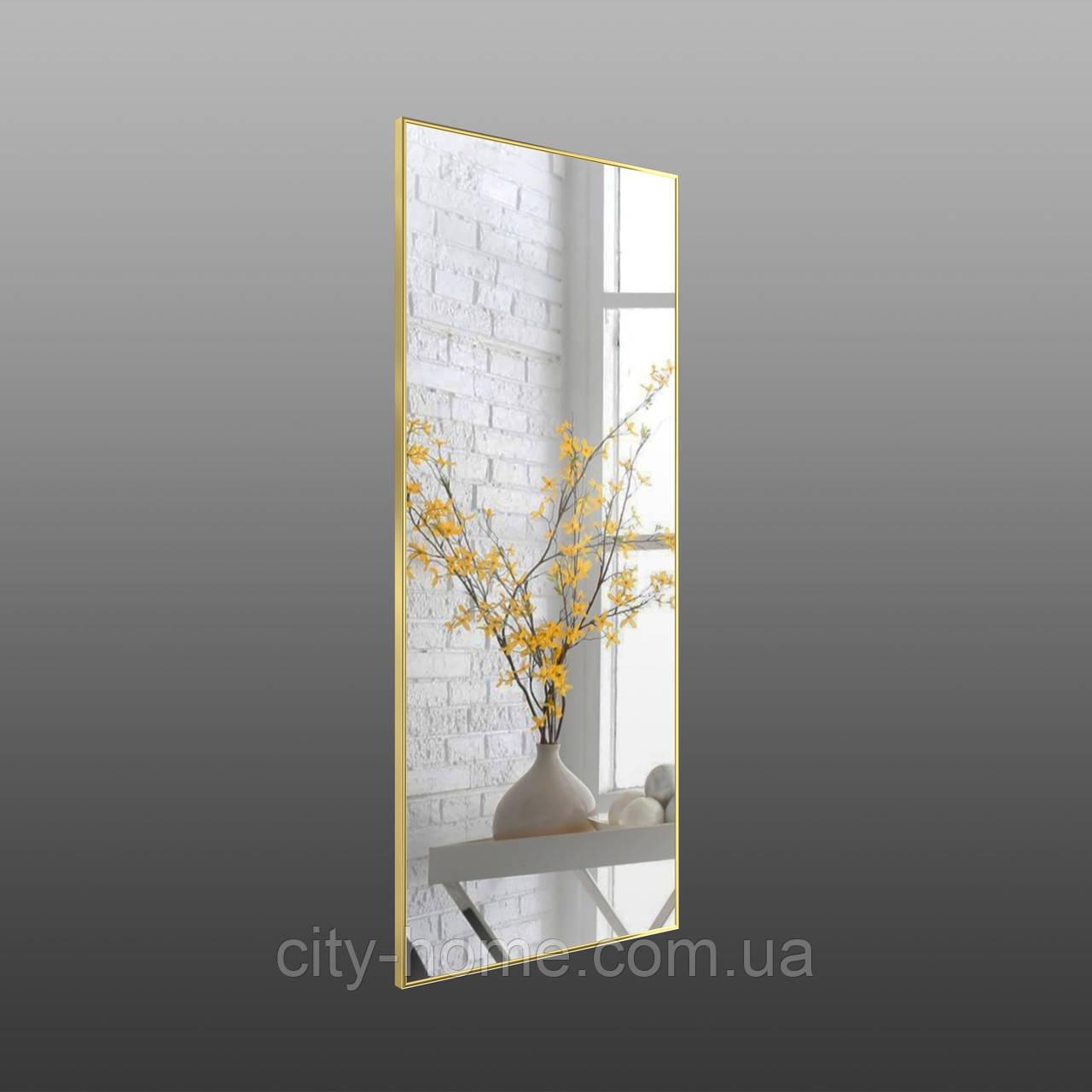 Зеркало в рост золото - хром