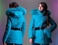 """Пальто зимнее подростковое """"Снегурочка"""", от 34 до 42 размера"""