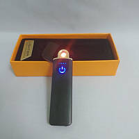 Зажигалка спиральная электрическая USB ZGP 4 Чёрная, фото 1