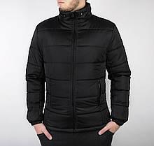 Мужская зимняя куртка с капюшоном черная