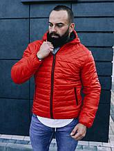 Мужская куртка ветровка красного цвета, Турция