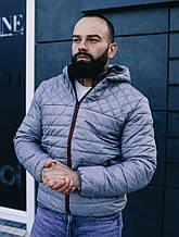 Мужская куртка ветровка серого цвета, Турция