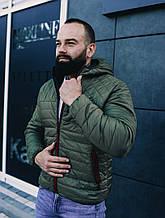 Мужская куртка ветровка хаки, Турция