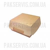 Упаковка для бургера Lux 120x120x70мм Крафт 50шт. 1/150