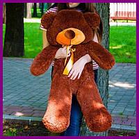 Мягкий плюшевый мишка Раф 100см коричневый, подарок для девушки на день рождения