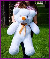 Мягкий плюшевый мишка Раф 100см белый, подарок для девушки на день рождения