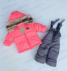 Зимний комбинезон +куртка на девочку 1-2,2-3,3-4, 4-5 лет