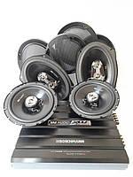 Набор автоакустики Boschmann:Динамики 16 см 300 Вт XW-633FR+Овалы 400 Вт XW-934FR+4-канальн усилитель XW-F4399