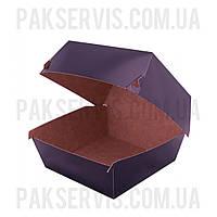 Упаковка для бургера Чёрная-Крафт 118x118x86мм 100шт. 1/600