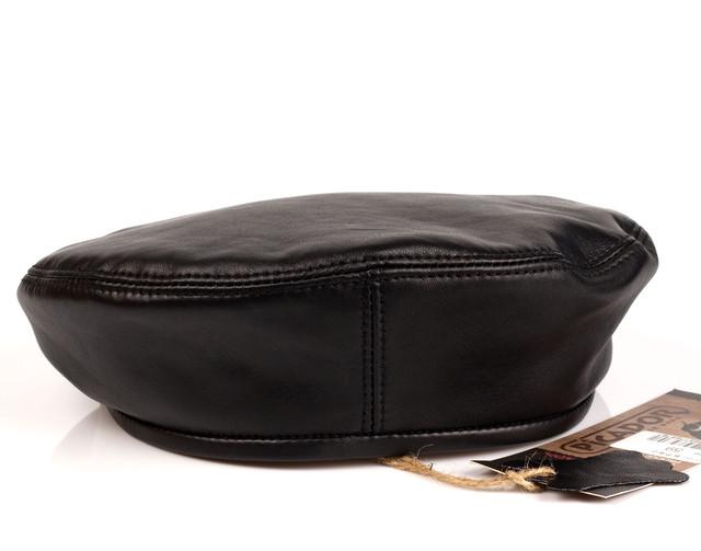 Берет мужской PICADOR кожаный черный