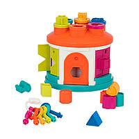 Развивающая игрушка-сортер - Умный домик Battat Shape Sorter House BT2580Z
