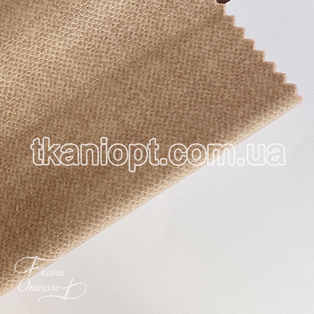 Ткань Велюр Рогожка с начёсом california (карамель)
