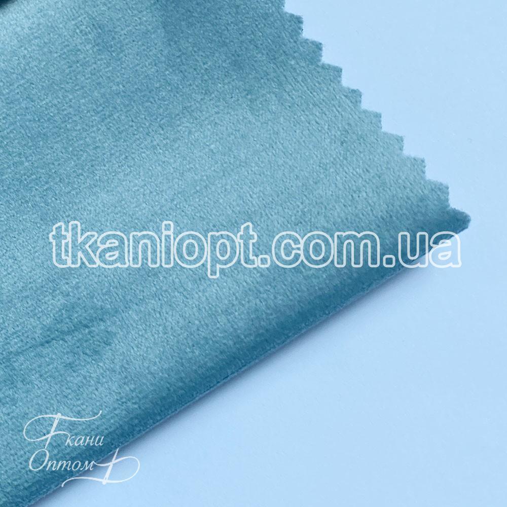 Ткань Велюр на тканевой основе broadway (светло-васильковый)