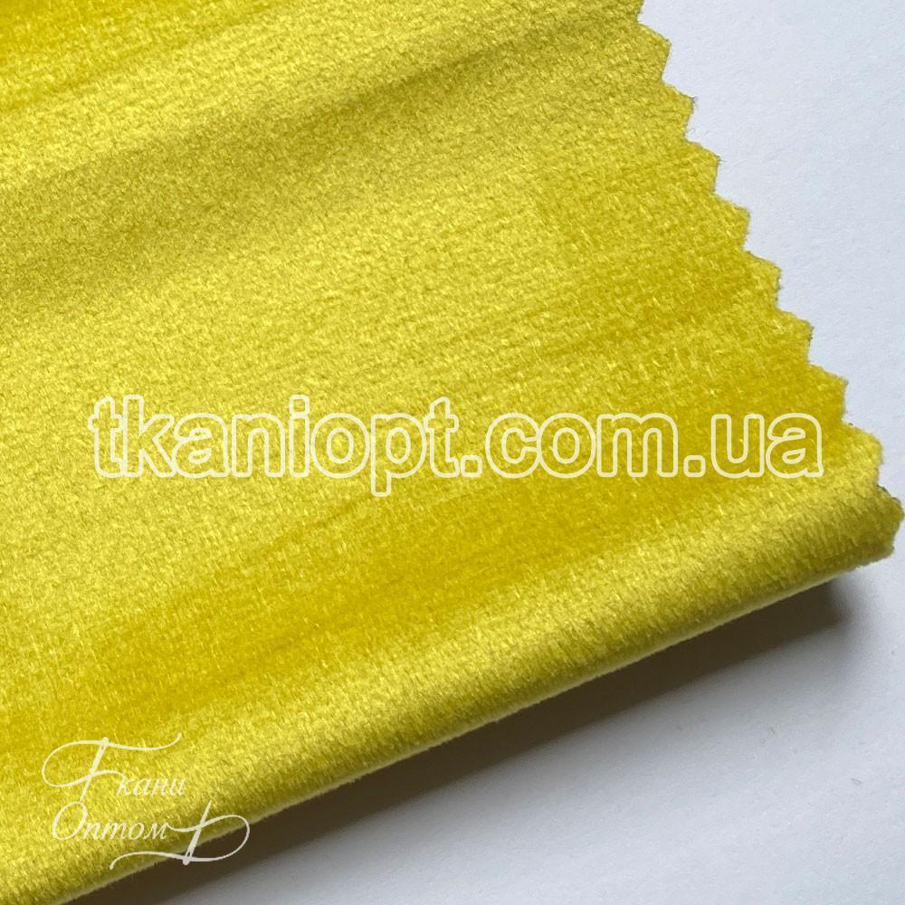 Ткань Велюр на тканевой основе broadway (желтый)