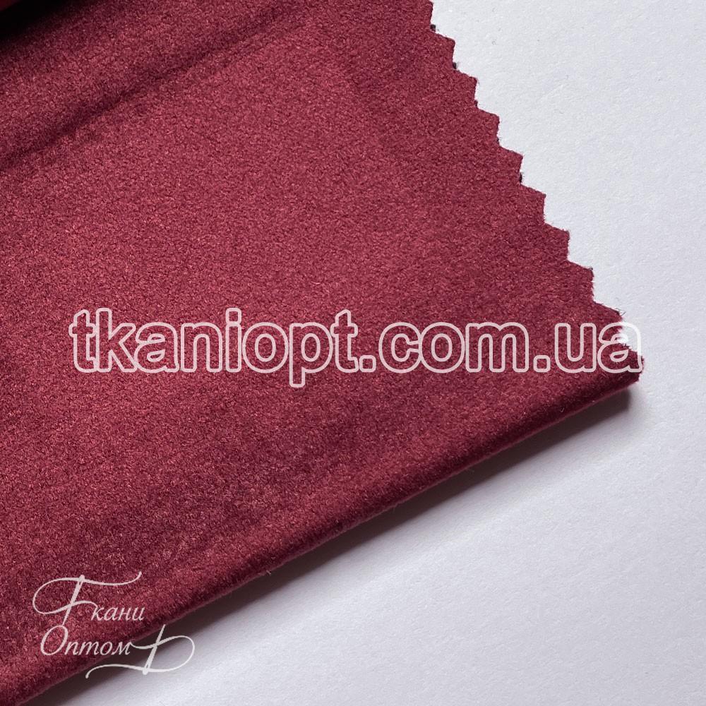 Ткань Велюр на тканевой основе broadway (бордовый)