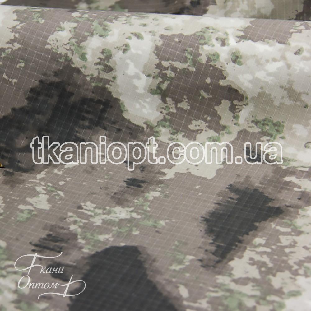 Ткань Рип-стоп камуфляж ТЕФЛОН 35/65 (Атак серый)
