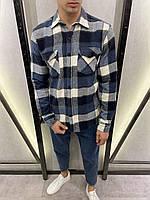 Теплые рубашки в клетку мужские байковые - Мужская рубашка байка в клетку теплая, Турция клетчатая рубашка