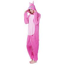 Кигуруми Стич розовый для взрослых, пижама кигуруми Стич