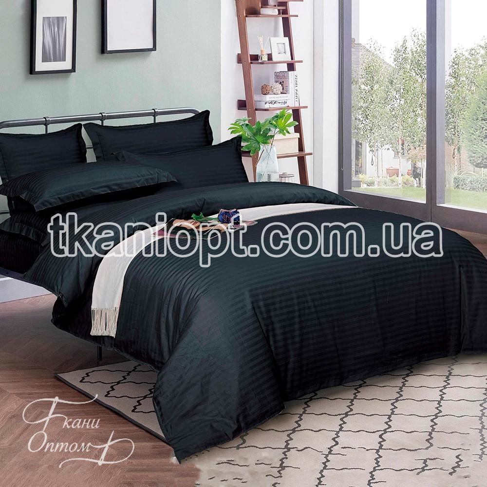 Ткань Страйп-сатин 220 dyed 1см (black)