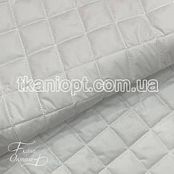 Ткань Плащевка стеганая Ромбик (белый)