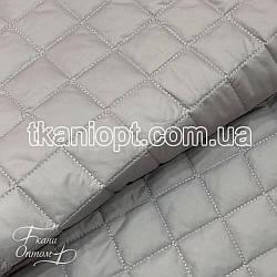Ткань Плащевка стеганая Ромбик (светло-серый)