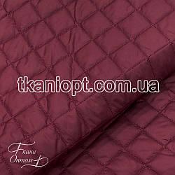 Ткань Плащевка стеганая Ромбик (бордовый)