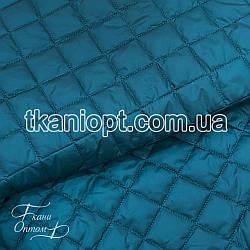 Ткань Плащевка стеганая Ромбик (морская волна)