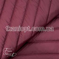 Ткань Плащевка стеганая Полоска (бордовый)