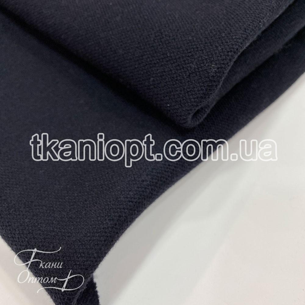Ткань Лакоста на флисе (темно-синий)