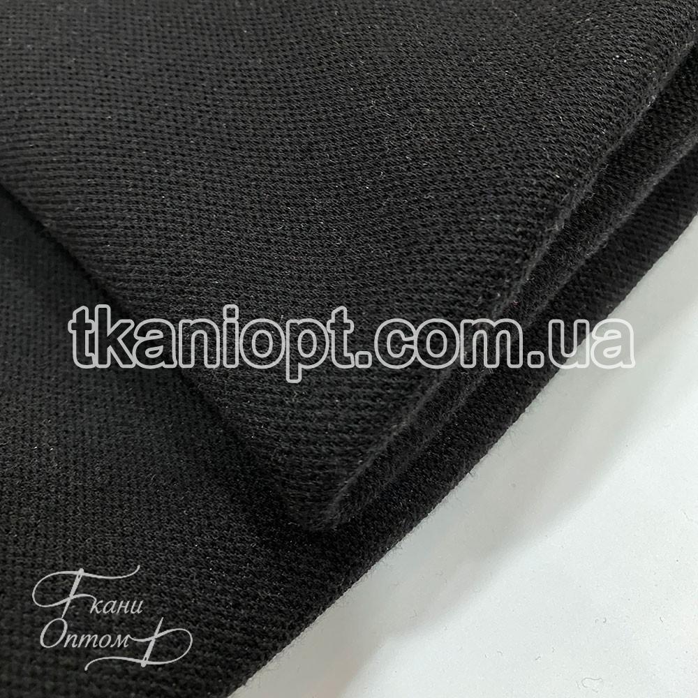 Ткань Лакоста на флисе (черный)