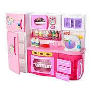 Мини кухня 2803S  для кукол барби, свет, звук, посудка
