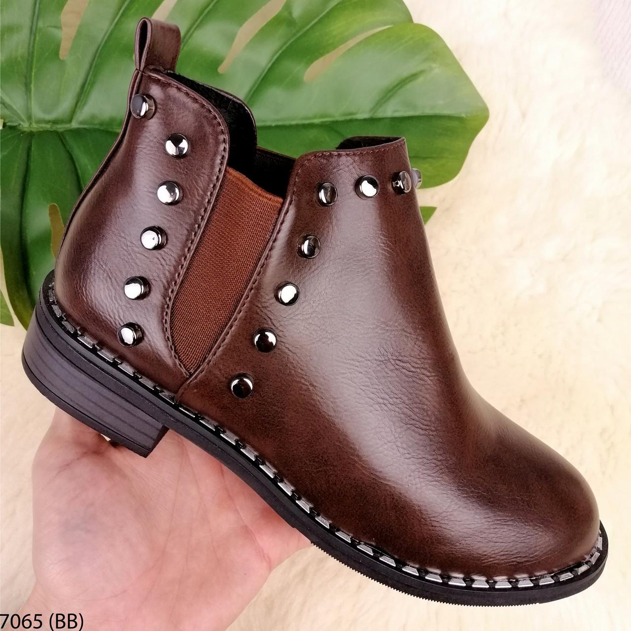 Демисезонные ботинки женские кожаные