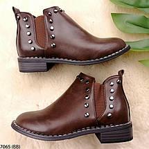 Демисезонные ботинки женские кожаные, фото 2